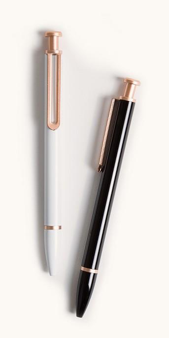 2ct Ballpoint Pens Black/White - UBrands