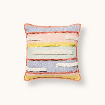 Textured Stripe Square Throw Pillow - Opalhouse™
