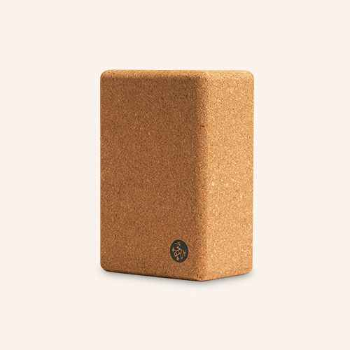 Manduka Cork Yoga Block - Light Brown