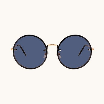 Women's Metal Round Sunglasses - Wild Fable™ Gold