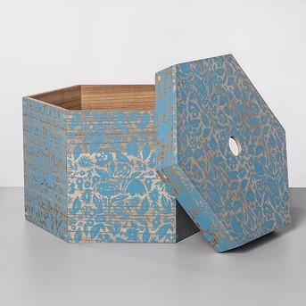 Decorative Hexagon Shaped Lidded Box - Opalhouse™