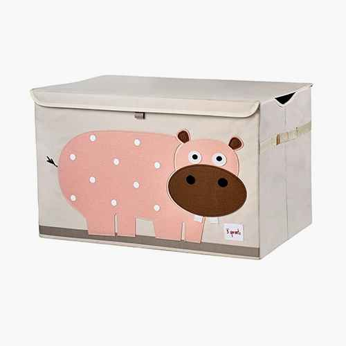 Hippo Fabric Trunk Toy Bin - 3 Sprouts