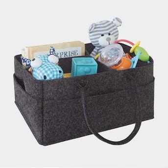 Trend Lab Felt Storage Caddy - Charcoal Gray