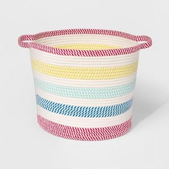 Round Braided Rope Toy Storage Basket - Pillowfort™