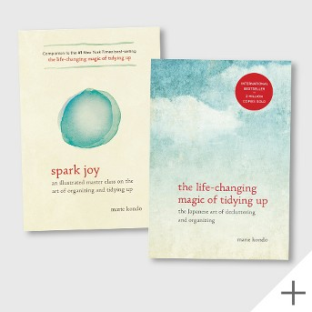 Spark Joy (Illustrated) (Hardcover) (Marie Kondo), The Life-Changing Magic of Tidying Up: The Japanese Art of Decluttering and Organizing (Hardcover) (Marie Kondo)