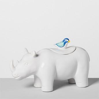Rhino Ceramic Cookie Jar White - Opalhouse™