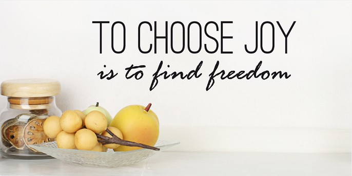 To Choose Joy Wall Decal - Black