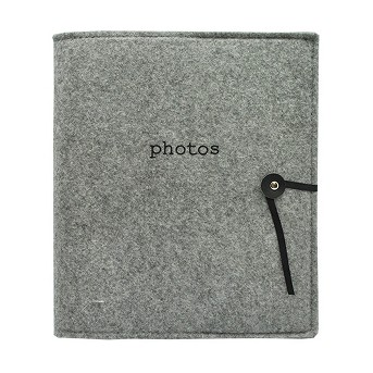 Felt Photo Album Gray - Holds Two 4