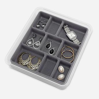 Jewelry Tray Gray - Whitmor