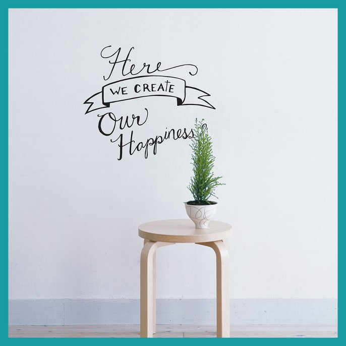 We Create Happiness Wall Decal - English