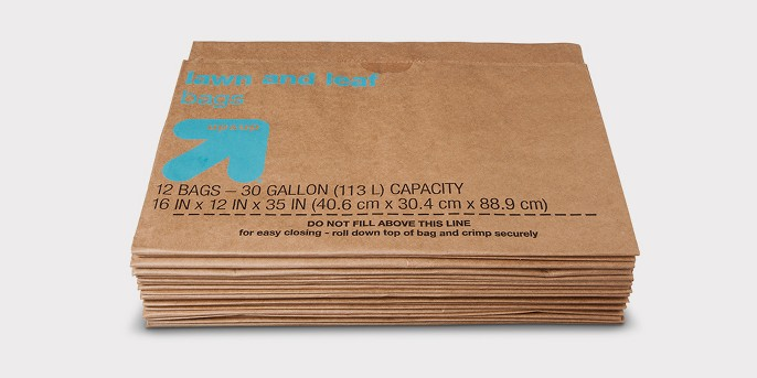 Lawn & Leaf Paper Trash Bags - 30 Gallon - 12ct - Up&Up™