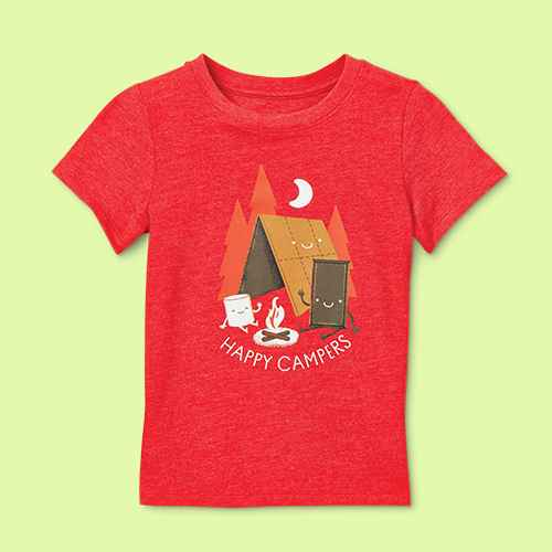 Toddler Boys' 'Happy Campers' Graphic Short Sleeve T-Shirt - Cat & Jack™ Bright Red 3T