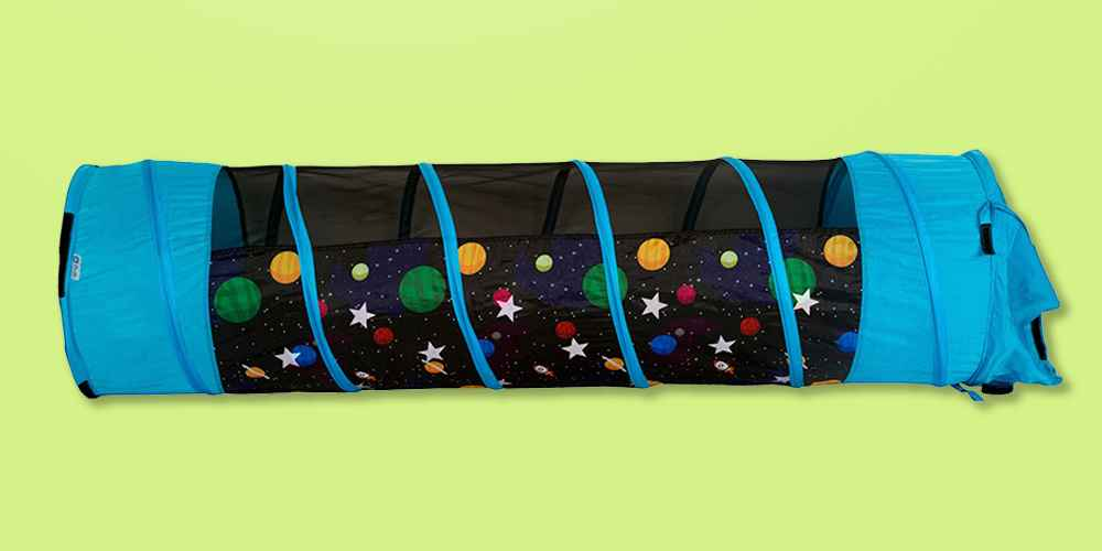 Pacific Play Tents Kids Glow In The Dark Galaxy Play Tunnel 6Ft