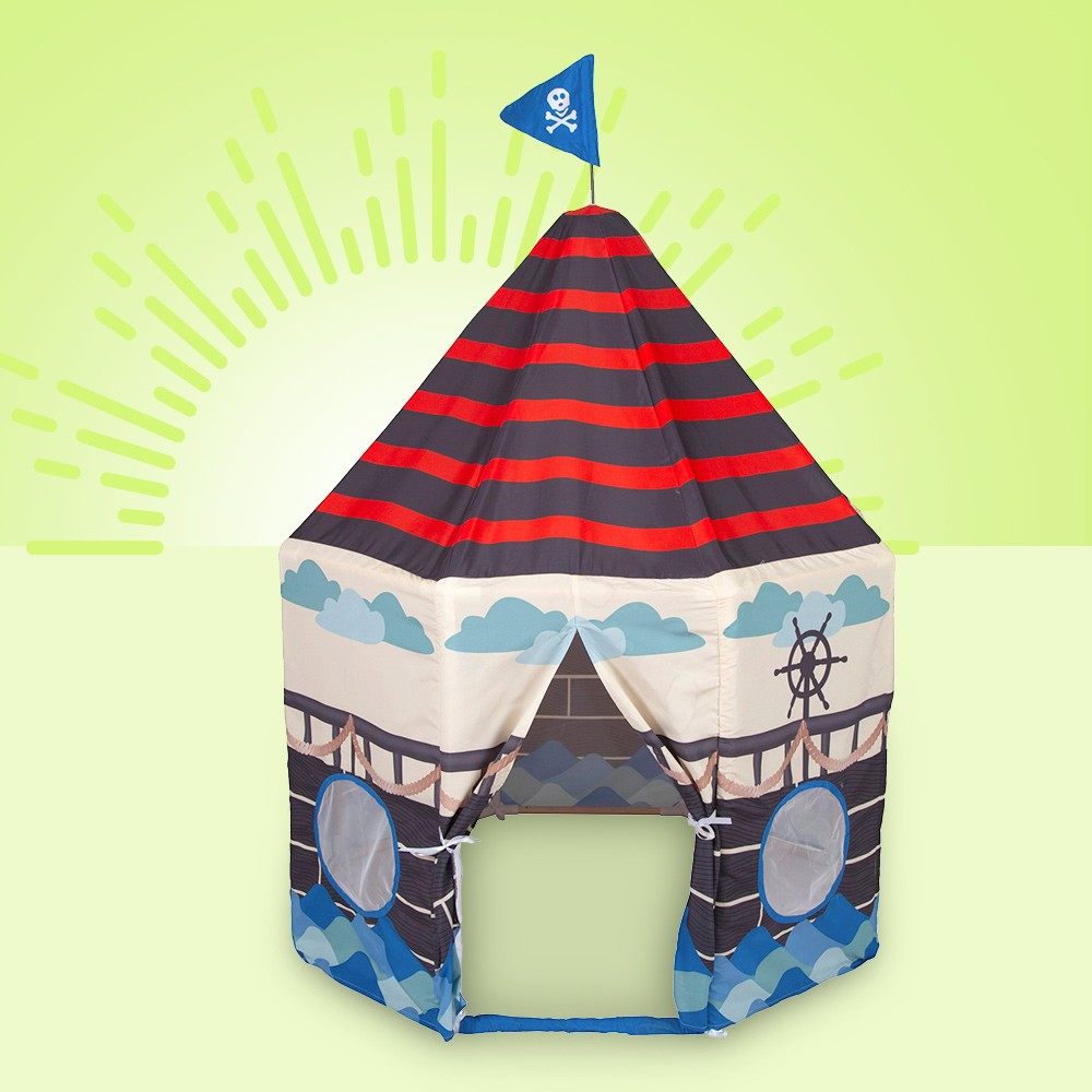 Pacific Play Tents Kids Pirate Play Pavilion With Flag