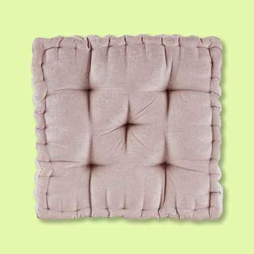 """Blush Square Floor Pillow Cushion (20""""x20"""")"""