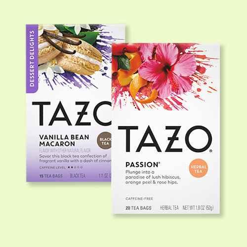 Tazo Passion Herbal Tea - 20ct, Tazo Vanilla Bean Macaron Dessert Delights Tea Bags - 15ct