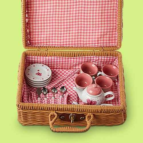 Schylling Butterfly Tea Set Basket