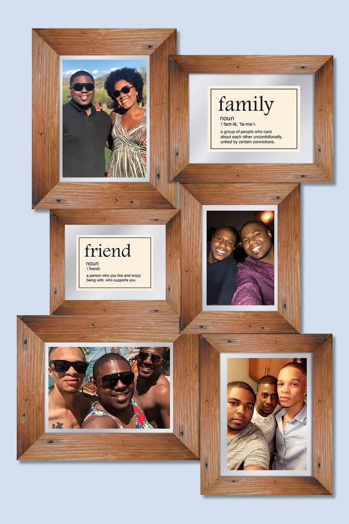 Pro Tour Memorabilia Multiple Picture Frame - Wood