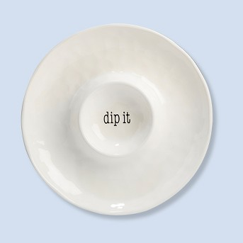 Certified International It's Just Words Ceramic Chip And Dip Bowl 13.8