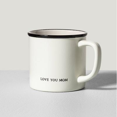 ./6oz Stoneware Mug Love You Mom Cream - Hearth & Hand™ with Magnolia