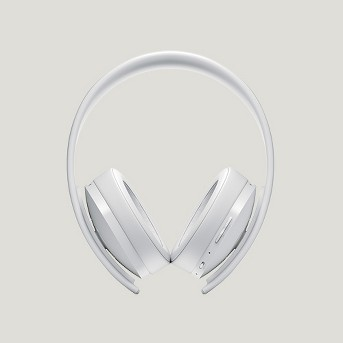 PlayStation 4 Gold Wireless Gaming Headset - White