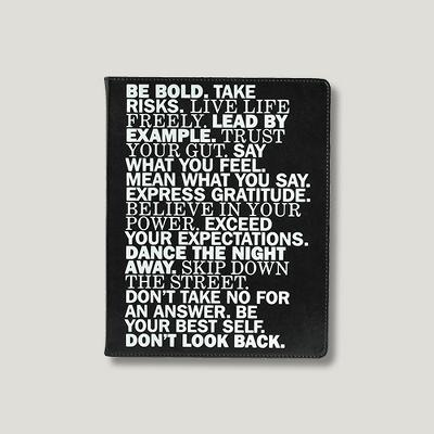 """Eccolo Desk Journal, Narrow Ruled, 10"""" x 8"""", 256 sheets - Inspirational Words"""