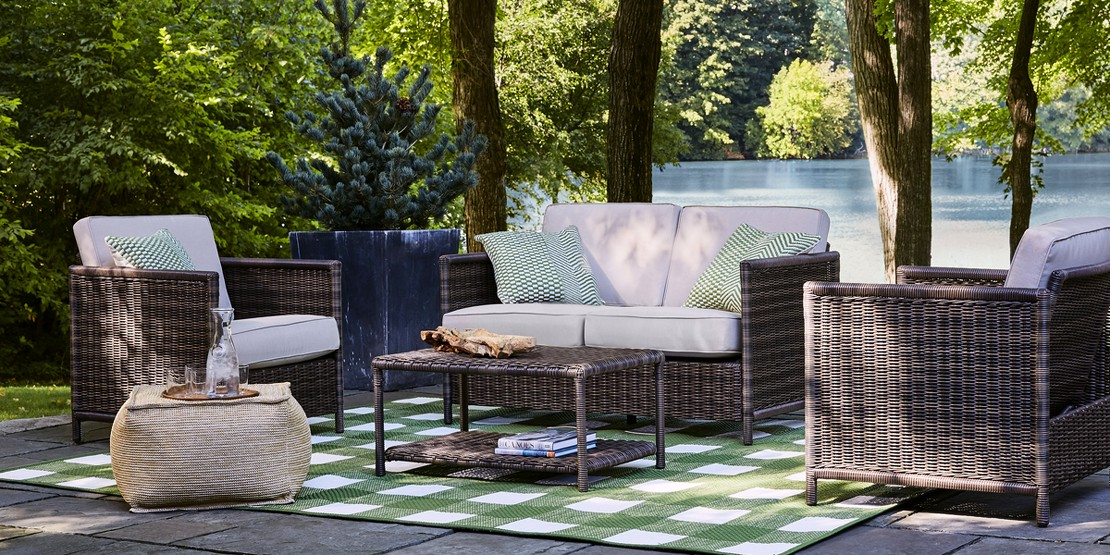 Save 30% on patio furniture & rugs* Online only, today only.