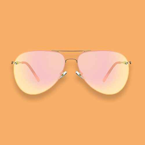 Women's Aviator Sunglasses - A New Day™ Gold Shimmer