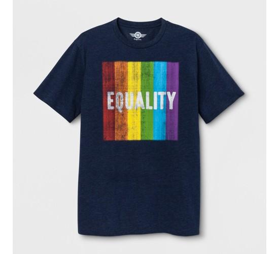 Pride Adult Short Sleeve Equality T-Shirt - Heathered Deep Navy