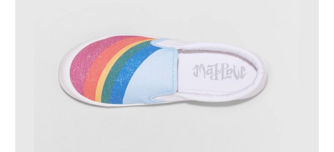 Girls' Mad Love Shayna Rainbow Printed Sneakers