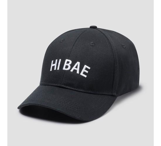 Men's Hi Bae Dad Baseball Cap - Black One Size