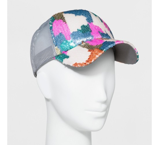 Women's Sequin Trucker Baseball Hat - Mossimo Supply Co.™