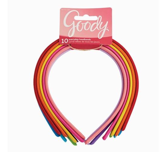 Goody® Girls' Value Shoestring Fabric Headbands - 10ct