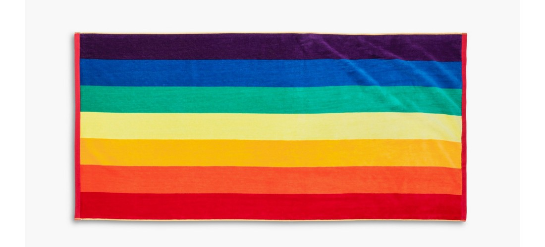 Pride Rainbow Beach Towel
