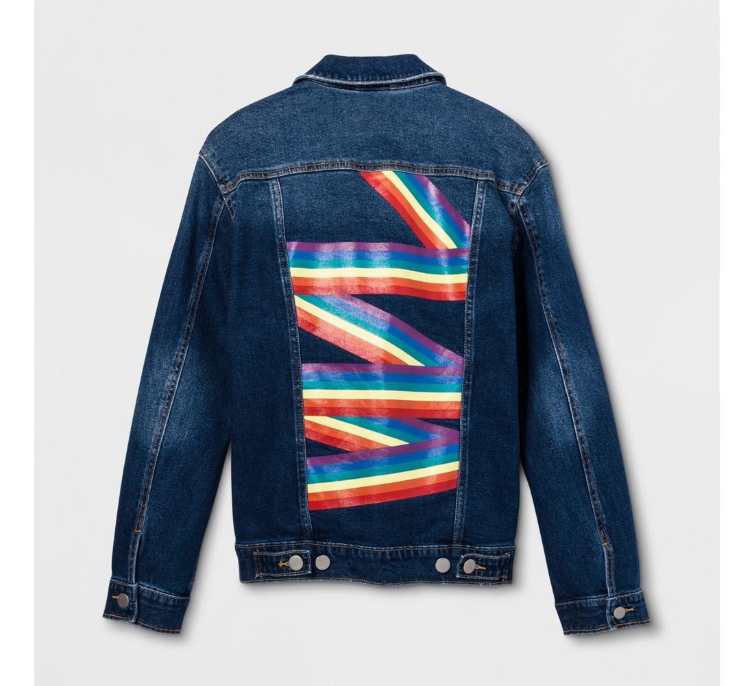 Pride Adult Denim Jacket - Medium Blue