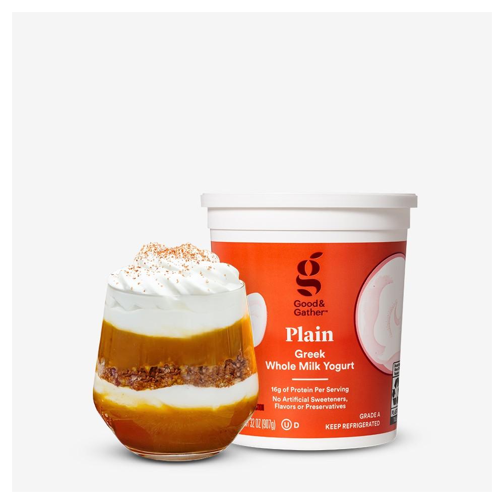 Greek Plain Whole Milk Yogurt - 32oz - Good & Gather™, Light Whipped Cream Topping - 13oz - Market Pantry™, Pumpkin Pie Granola - 12oz - Good & Gather™, Pumpkin Pie Spice - 0.75oz - Good & Gather™