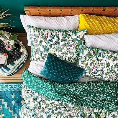 Green Indo Parakeet Reversible Comforter Set - Opalhouse™