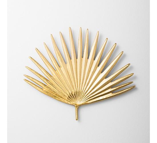 Cast Metal Gold Palm Leaf (11.5