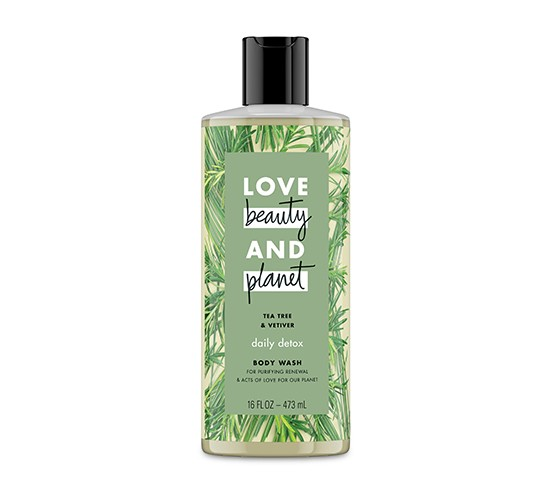 Love Beauty and Planet Tea Tree and Vetiver Body Wash - 16oz