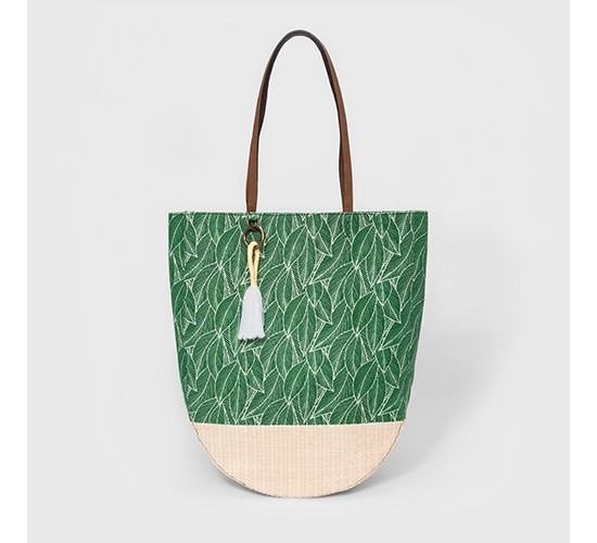 Leaf Print Tote Handbag - Mossimo Supply Co.™ Green