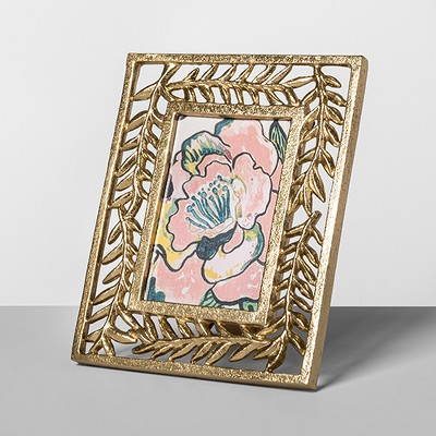 "Cast Palm Frame Gold 4""x6"" - Opalhouse™"