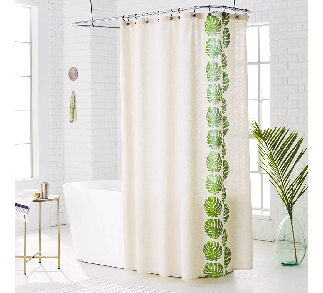 Leaf Shower Curtain Green Grapes - Threshold™