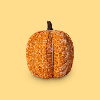 Knit Orange Pumpkin Halloween Decoration Large - Spritz™