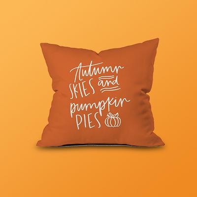 Chelcey Tate Autumn Skies Throw Pillow Orange - Deny Designs