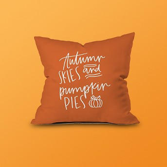 Chelcey Tate Autumn Skies Throw Pillow Orange - Deny Designs