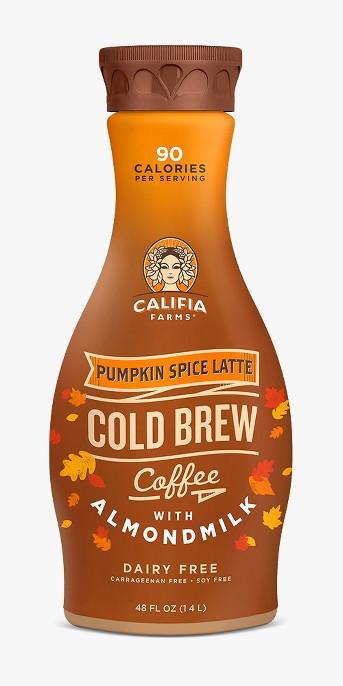 Califia Farms Pumpkin Spice Latte Cold Brew Coffee 48 oz