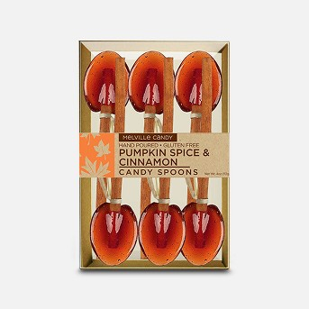 Melville Candy Company Pumpkin Spice & Cinnamon Candy Spoons Lollipops - 18ct