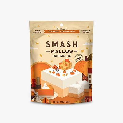 SmashMallow Halloween Pumpkin Pie Marshmallow - 4.5oz