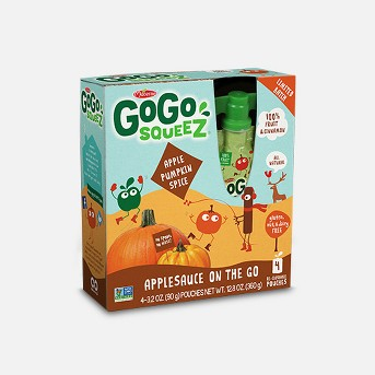 Gogo Squeez Applesauce On The Go Apple Pumpkin Spice Pouch 4ct - 3.2Z