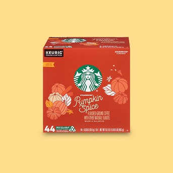 Starbucks Pumpkin Spice Medium Roast Coffee - Keurig K-Cup Pods - 44ct